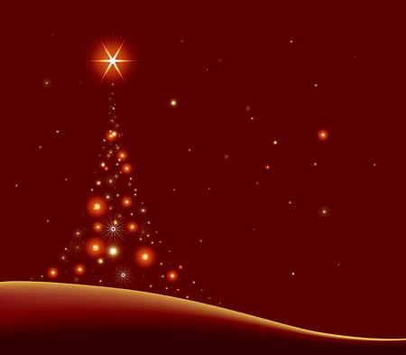 stylised cristmas tree Vector