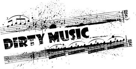 dirty musical frame