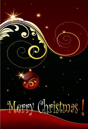 shiny Christmas card design Illustration