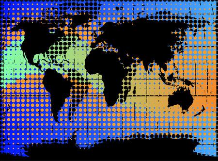 artistic illustration of the globe earth Stock Vector - 4107269