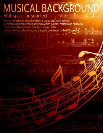 musical background Stock Vector - 4387531