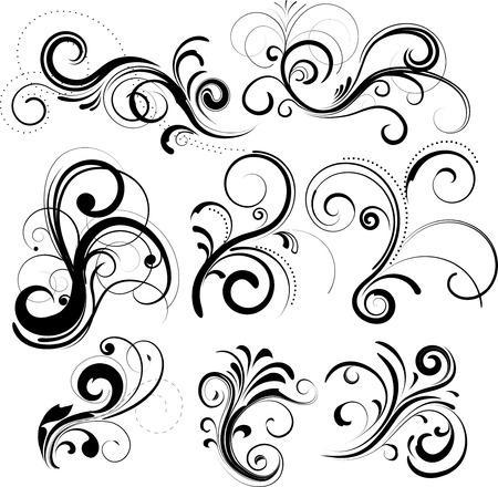set of floral design elements Stock Vector - 4387529