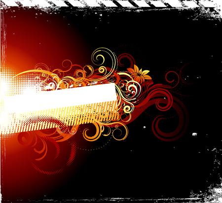 grunge fire banner-vector illustration