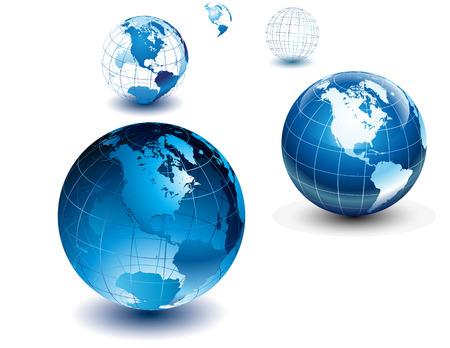 translucent: globi lucido-Nord e Sud America Vettoriali
