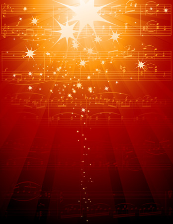 orchester: Hintergrund Musik Illustration