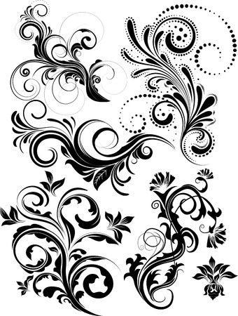 Vectror floral set
