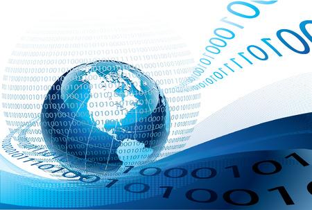 binary data: binary code background