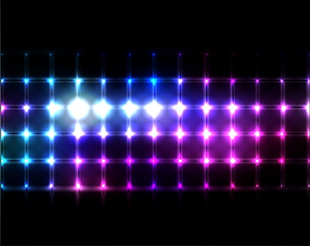 party club: Lights Background  Illustration