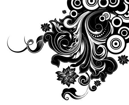 vibran: fondo floral decorativo