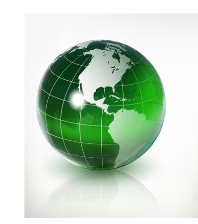 glass earth - globe  Stock Vector - 9923389