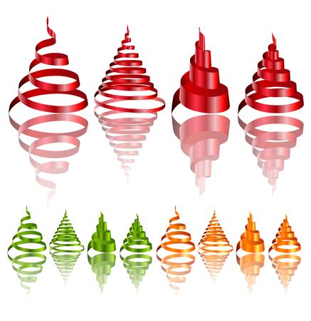 Colorful Christmas ribbons Illustration