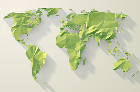 Low Poly World Map Illustration