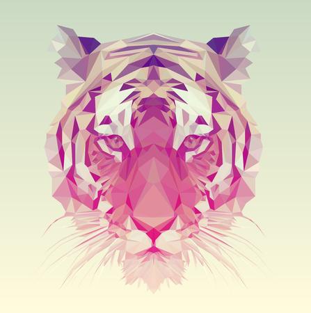 Conception graphique de tigre polygonal Vecteurs