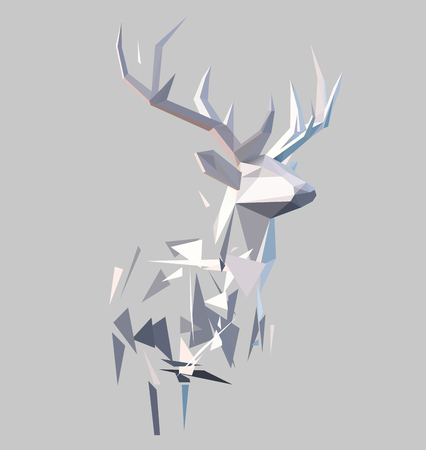 Low poly effect Illustration