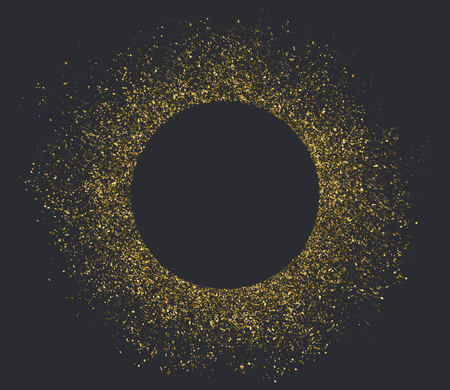 Golden dust circle with space for text Illustration