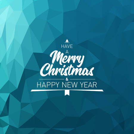 Christmas and New Year card design template.