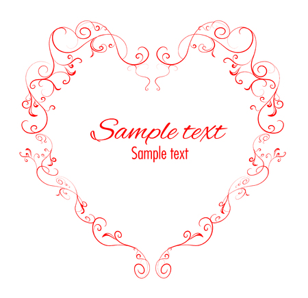 Heart shaped floral decorative element with space for your text.