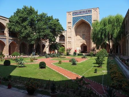 Atrium garden of Kukeldash Madrasa, Tashkent, Uzbekistan