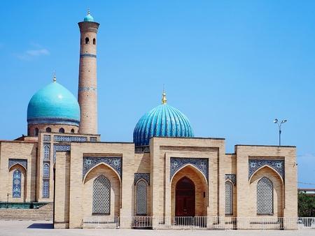 Khast-Imam (or Khazrati Imam) with Muborak Madrasa which contains the oldest edition of Koran, Tashkent, Uzbekistan
