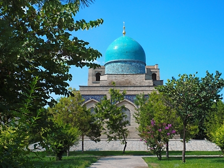 Gardens of Khazrati Imam Square in Tashkent, Uzbekistan Stock Photo
