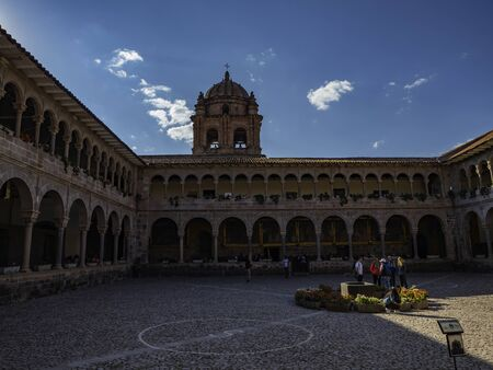 Inner courtyard or Cloister of the Convent of Santo Domingo, City of Cusco, Peru