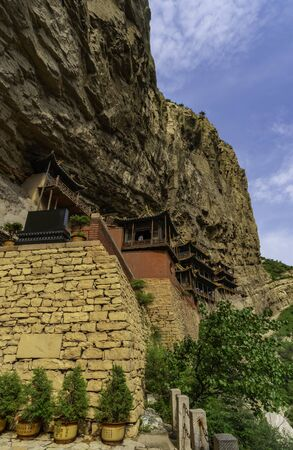 Xuan Kong chinese Hanging monastery made by Northern Wei Dynasty. Shanxi Province near Datong, China