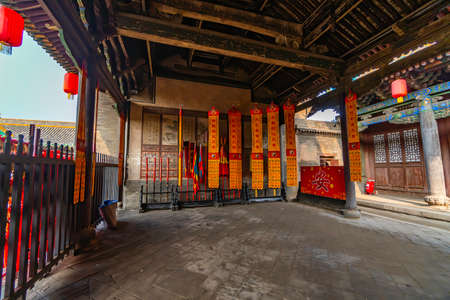 Classroom inThe God of Wealth Temple (Cheng Huang Temple), Pingyao Ancient City, Shanxi province, China