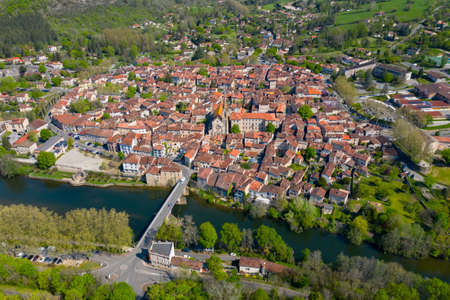 Beautiful medieval village Saint Antonin Noble Val in Occitania, France