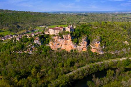 Bruniquel Castle in a medieval village, Tarn, Midi-Pyrenees, Occitania, France