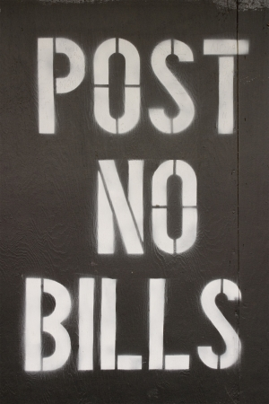 Post no bills sign at WTC construction site