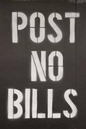 Poster aucun signe factures sur le site de construction du WTC