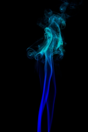 sillhouette: Colored Smoke on black background
