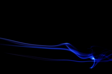 Colored Smoke on black background photo