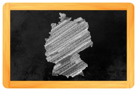 Germany drawn on a blackboard