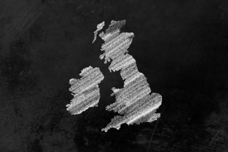 Grande-Bretagne dessin� sur un tableau noir Banque d'images