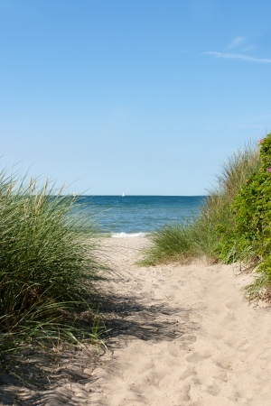 A Path to the baltic sea beach