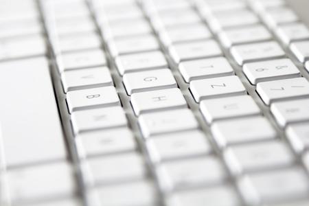 Modern Keyboard shallow depth of field Stock Photo