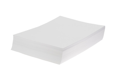 din: Batch of blank white Din A4 Paper isolated on white