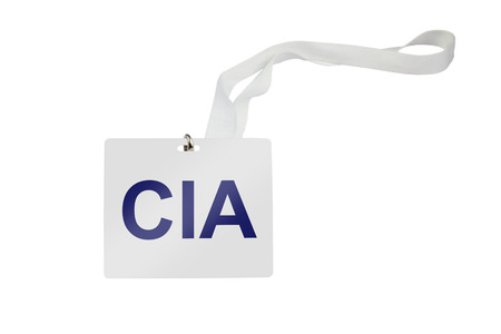 cia: CIA labeled pass isolated on white background