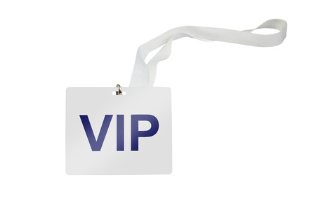 vip labeled pass isolated on white background