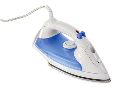 Steam Iron isolated on white background Stock Photo