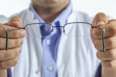 vision test: Un repartiendo �ptico fuera gafas visto desde el punto de vista de los pacientes Foto de archivo