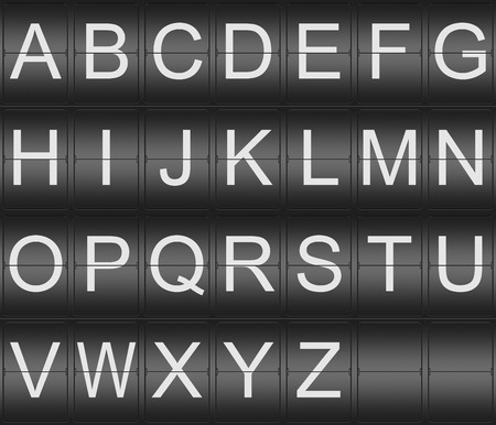 indicator board: Collection of Letters on a mechenical indicator board