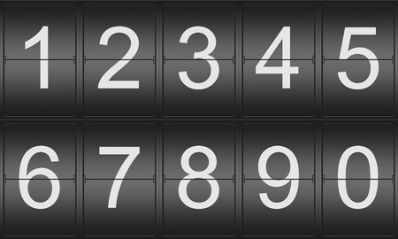 indicator board: Collection of Numbers on a mechenical indicator board