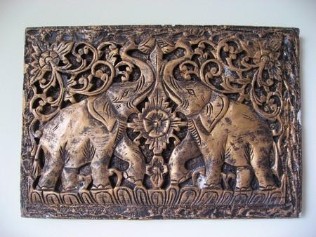 Elephant wall. photo
