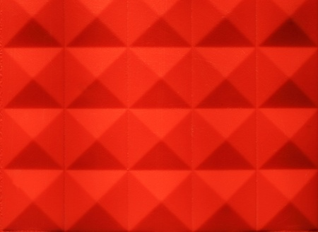 Plastic orange arranged in a square pattern row photo