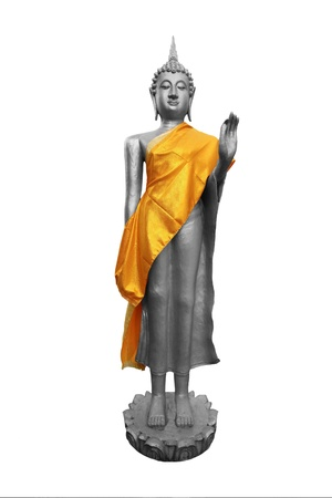 stone buddha: Stone Buddha statue at the Asian respect Stock Photo