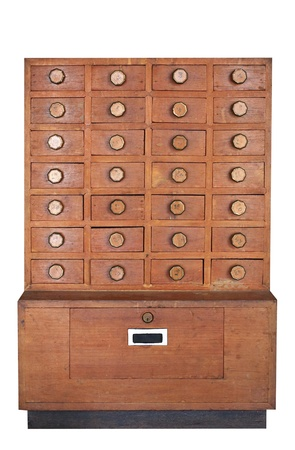 wooden cabinet with many drawers Stock Photo - 9495774