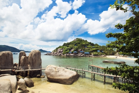 Kon Nang Yuan lsland in surat Thailand