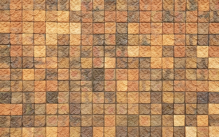 Traditional ancient on the wall tiles Stock Photo - 14629915
